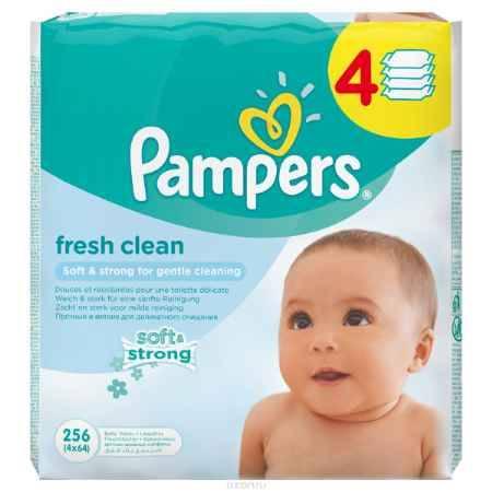 Купить Pampers Детские влажные салфетки Baby Fresh Clean 256 шт
