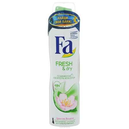 Купить FA Дезодорант-аэрозоль женский Fresh&Dry Цветок Вишни, 150 мл