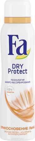 Купить Fa Дезодорант-аэрозоль Dry Protect Прикосновение Льна, 150 мл