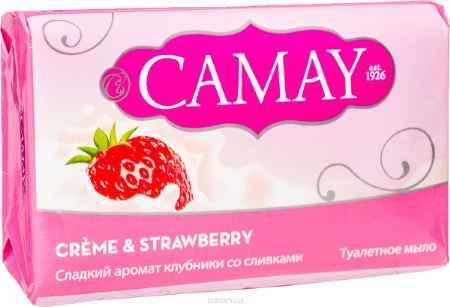 Купить CAMAY Мыло твердое Клубника со сливками 4х75г