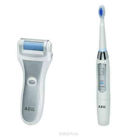 Купить AEG PHE 5642, White Silver Электрическая роликовая пилка + зубной центр AEG EZS 5663
