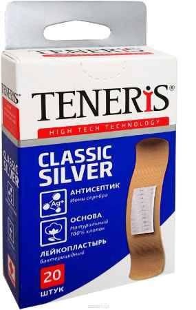 Купить Набор лейкопластырей Тенерис Классик Силвер бактерицидных: 20 шт, 76 мм х19 мм