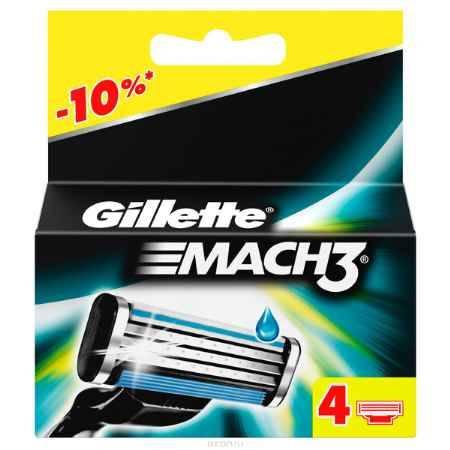 Купить Сменные кассеты для бритья Gillette Mach 3, 4 шт.