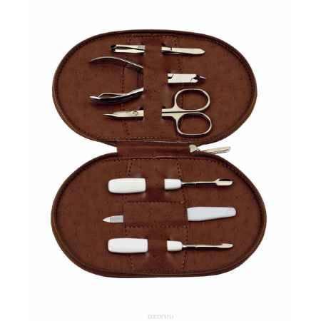 Купить Janeke Маникюрный набор, сталь Solingen, JA3062 ASS, цвет: коричневый