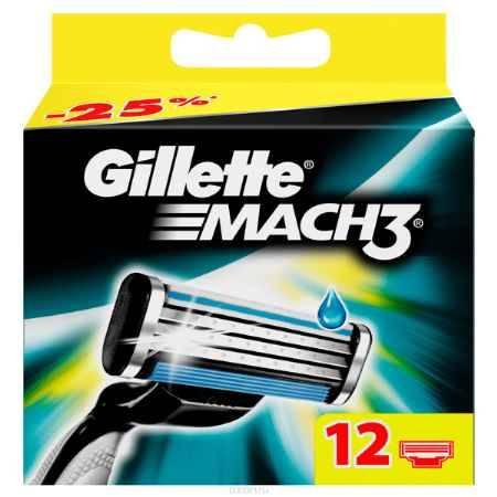 Купить Сменные кассеты для бритья Gillette Mach 3, 12 шт.