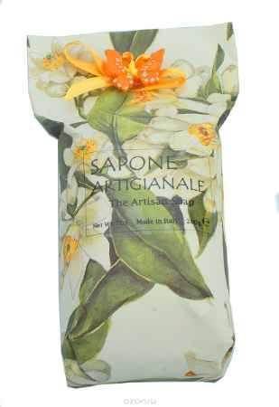Купить Iteritalia Мыло высококачественное растительное с ароматом жасмина в дизайнерской упаковке ручной работы с элементом декора, 200 г