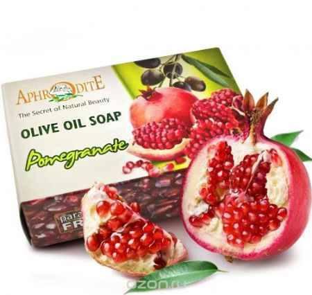 Купить Aphrodite Мыло оливковое с экстрактом граната, 100 г