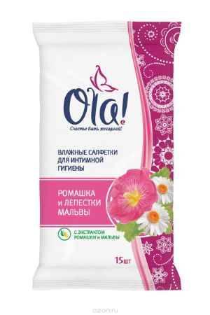 Купить Ola! Влажные очищающающие салфетки для интимной гигиены