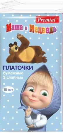 Купить Маша и Медведь Бумажные платочки 10 шт.