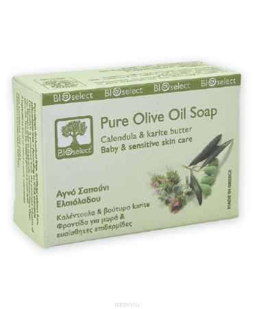 Купить BIOselect Натуральное мыло с оливковым маслом, календулой и маслом каритэ, 80 мл