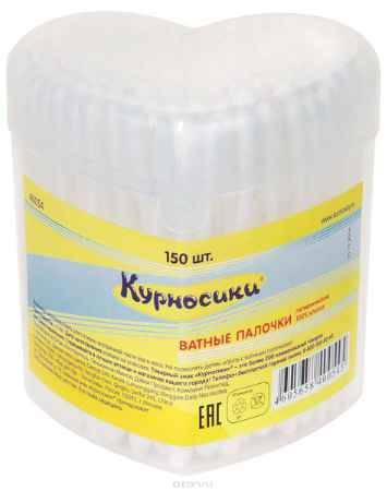 Купить Курносики Ватные палочки цвет стика белый 150 шт