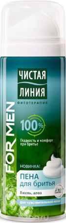 Купить Чистая Линия Фитотерапия for Men Пена для бритья Для чувствительной кожи для мужчин 200 мл