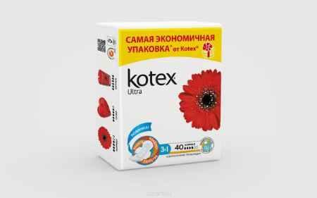 Купить Kotex Прокладки гигиенические Ultra. Normal 40 шт