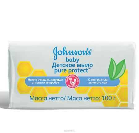 Купить Johnson's baby Pure Protect Детское мыло 100 г