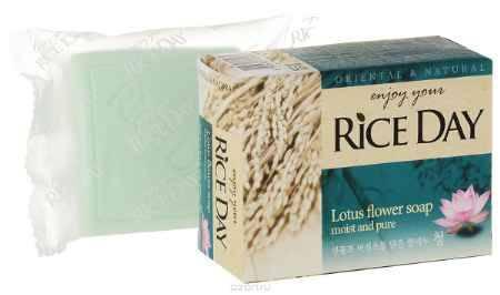 Купить CJ Lion Riceday Мыло туалетное с экстрактом лотоса, 100 г