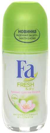 Купить FA Дезодорант роликовый женский Fresh&Dry Цветок Вишни, 50 мл
