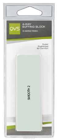 Купить QVS Полировочный блок для ногтей с 4-мя рабочими поверхностями