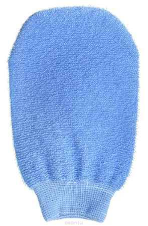 Купить Riffi Мочалка-рукавица массажная, двухсторонняя, цвет: голубой. 700