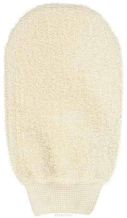 Купить Riffi Мочалка-рукавица, массажная, двухсторонняя, цвет: бежевый
