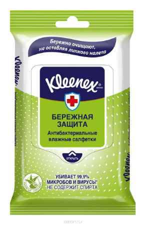 Купить Kleenex Салфетки влажные Антибактриальные 10 шт