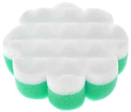 Купить Курносики Мочалка с массажным слоем Цветок цвет зеленый белый