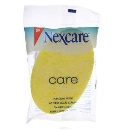 Купить Nexcare Губка массажная для тела, целлюлозная, цвет: желтый