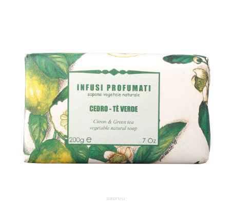 Купить Iteritalia Мыло натуральное с цитроном и зеленым чаем, 200 г