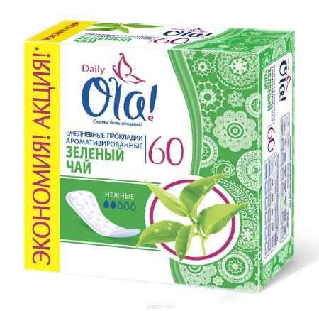 Купить Ola! Daily DEO (Зеленый чай) Прокладки, 60 шт