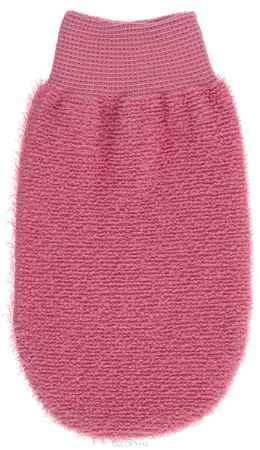 Купить Riffi Мочалка-рукавица, массажная, двухсторонняя, цвет: коралловый. 707