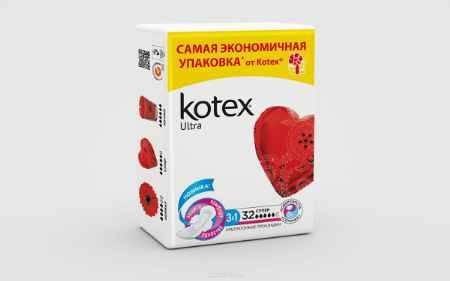 Купить Kotex Прокладки гигиенические сетчатые Ultra Super 32 шт