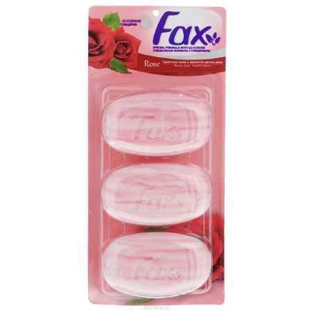Купить FAX Мыло с глицерином Роза блистер 3*115г