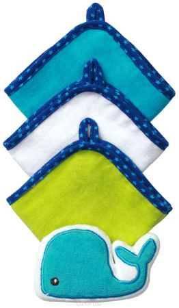 Купить BabyOno Набор для купания Кит Губка 3 салфетки цвет синий