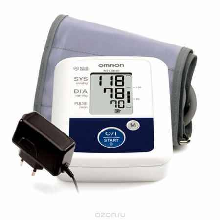 Купить Omron M2 Classic тонометр + адаптер + универсальная манжета HEM-7117H-ARU
