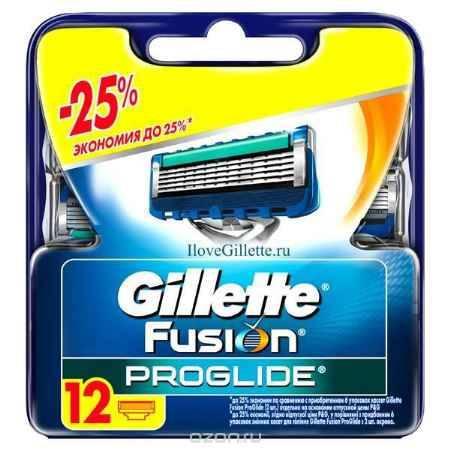 Купить Сменные кассеты для бритья Gillette Fusion ProGlide, 12 шт