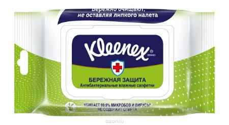 Купить Kleenex Салфетки влажные Антибактриальные Мега Пек 40 шт