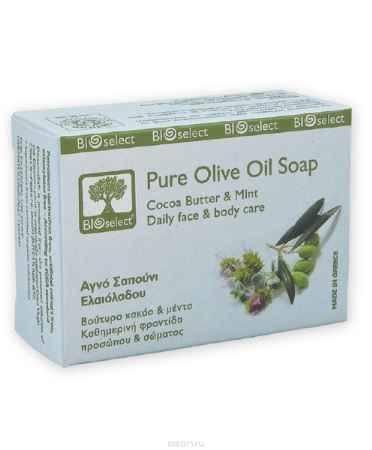 Купить BIOselect Натуральное мыло с оливковым маслом, маслом какао и мятой, 80 мл