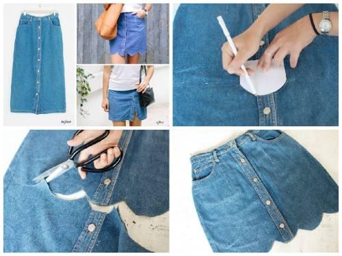 Как переделать юбку если мала