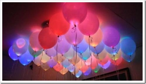 Что потребуется для создания светящихся шаров?
