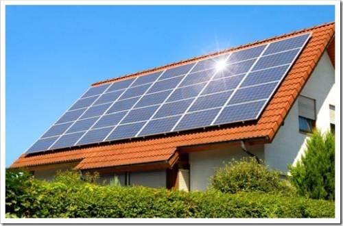 Установка солнечных батарей на крышку