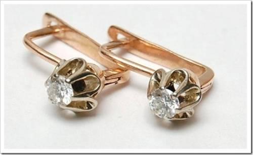 Наиболее популярные модели серёжек с бриллиантами