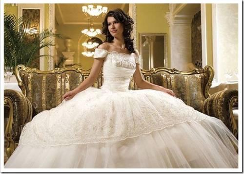Свадебные платья с кринолином