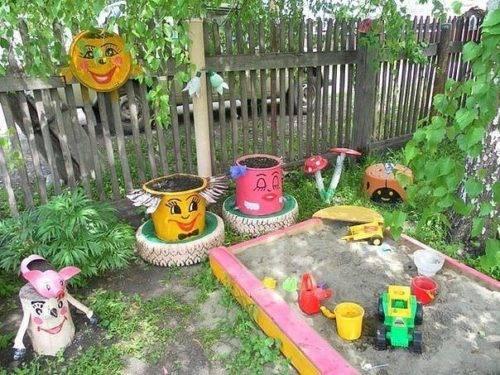 украшение детской площадки