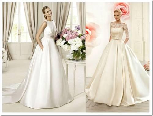 Особенности свадебных платьев из шелка