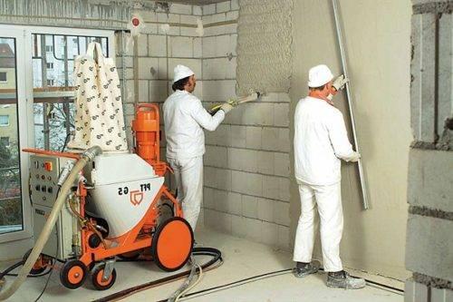 штукатуривание стен из газобетона