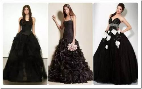 Черное подвенечное платье: эпатаж на грани разумного