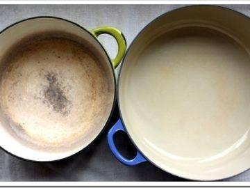 Наиболее распространенные способы чистки эмалированной посуды
