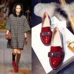 С чем носить красные ботинки женские: фото
