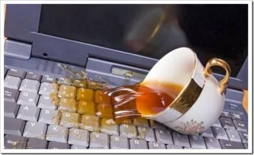 Способ, который гарантированно защитит ноутбук от затопления напитком