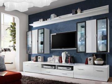 Как оформить стенку в гостиной