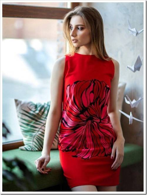 Красное платье: лучший оттенок для сочетаний